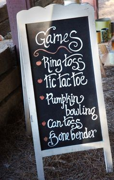 Image result for ideas for labeling yard games at wedding