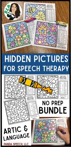 No prep engaging coloring activities for 2nd grade and up! Language and Artic!
