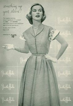 Dress by Dorothy Hubbs, 1950s.