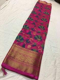 Kanchi border korasilk sarees Order what's app 7995736811 Uppada Pattu Sarees, Kora Silk Sarees, Khadi Saree, Organza Saree, Kanchipuram Saree, Cotton Saree, Ethnic Sarees, Indian Sarees, Kota Sarees