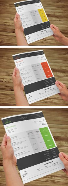 Metro & Minimal Business Invoice by Bouncy Studio, via Behance