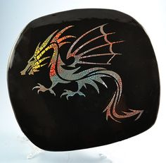 Dragon wall plaque in handmade ceramic by summerscrafts on Etsy Handmade Ceramic, Wall Plaques, Dragon, Pottery, Ceramics, Tableware, Creative, Etsy, Vintage