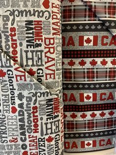 🇨🇦 🍁The new My Canada cotton collection + panels are here! Available at our Oak Bluff, Manitoba and Medicine Hat stores. 100% Cotton, 44/45 inch #sew #quilt #quilting #sewing #create #fabricstore #fabrics #projects #DIY #DIYprojects #homedecor #mommylife #ilovetosew #sewist #sewinginspiration #sewingaddict #easysewingideas #mookfabrics #mookmoment #wpgnow Canada Leaf, Hat Stores, Diy Projects, Quilts, Sewing, Create, Fabric, Tejido, Dressmaking