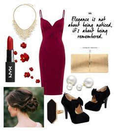 """""""Night Out"""" by kathrynrose42 ❤ liked on Polyvore featuring Nina Ricci, Allurez, BERRICLE and Jaeger"""