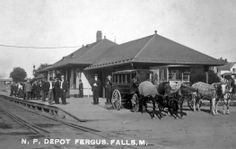 my hometown..love this old depot..would have been so fun to see this with the horses