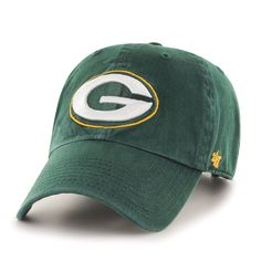 NFL Green Bay Packers '47 Clean Up Adjustable Hat, Dark Green, One Size …