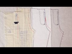 How to Alter the Crotch Length in a Pants Pattern - YouTube