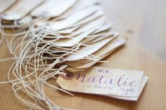 Rustic Vintage Wedding Name Tags on Coffee Stained Tags with Twine Custom Calligraphy Escort Tags on Etsy, $2.00