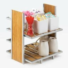"Cal-Mil 1278 Eco Modern Merchandiser w/ 2-Tiers, Silver Wire & Bamboo, Each by Cal-Mil. $79.99. Cal-Mil 1278 Eco Modern Merchandiser w/ 2-Tiers, Silver Wire & Bamboo. Eco Modern Merchandiser, 2-tier, 14""W x 11-1/2""D x 15""H, silver wire & bamboo"