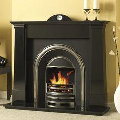 Multi Fuel Stove, Fire Surround, Black Granite, Fireplace Surrounds, Stoves, Wood Burning, Fireplaces, Home Appliances, Home Decor