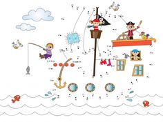 Create a pirate ship with this free dot to dot activity! #dottodot #freeactivities #connectthedots #pirateactivities