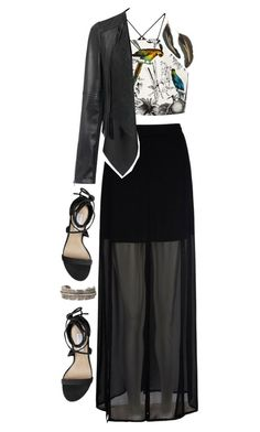 """""""Brids of a Feather"""" by monica-diaz-1 ❤ liked on Polyvore featuring Mela Loves London, Milly, Yves Saint Laurent, Steve Madden and MANGO"""