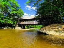 Sunday River Covered Bridge by Elizabeth Dow - Sunday River Covered Bridge Photograph - Sunday River Covered Bridge Fine Art Prints and Posters for Sale