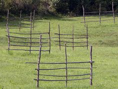 Ritch. Empty hay racks, near Slatioara. 2007.