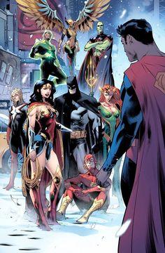 Justice League by Jorge Jimenez & Alejandro Sanchez Rodriguez Marvel Comics, Arte Dc Comics, Dc Comics Superheroes, Dc Comics Characters, Dc Comic Books, Comic Book Artists, Comic Art, Univers Dc, Detective Comics