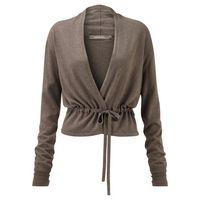 £89.00 Sandwich Tie Details #Cardigan, Dark Stone  #fashion