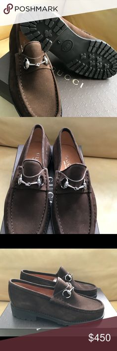 Authentic Gucci Man shoe Brown suade horsebit authentic Gucci loafer. Never used. With box. Gucci Shoes Loafers & Slip-Ons