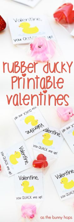 Create DIY Valentines without all of the usual DIY hassles with Rubber Ducky Printable Valentines!