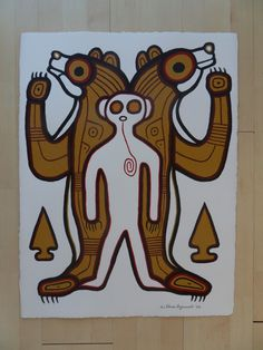 Ahmoo Angeconeb – NorthOfSuperiorArt.com Original Artwork, Original Paintings, French Paintings, Aboriginal Artists, Visit Germany, Old Rock, Coloured Pencils, Black Paper, Native Art