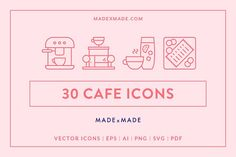 Line Icons – Cafe by Made by Made on @creativemarket