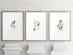 Eucalyptus Printable, Set of 3 by Two Brushes Art, $10