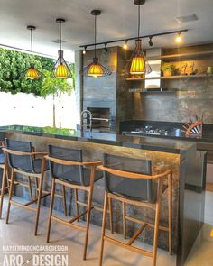 Kitchen Interior, Kitchen Decor, Cafe Design, House Design, Outdoor Pavillion, Dirty Kitchen, House Layouts, Home And Living, Sweet Home