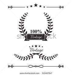 Collection of decorative wreaths line elements, border and page rules vector illustration eps10