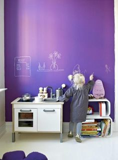 Children's Play Space & Chalkboard Wall