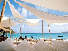 Nikki Beach restaurant and bar, St Barts