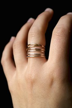 14K Gold Fill Wraparound ring gold fill wrap ring by hannahnaomi