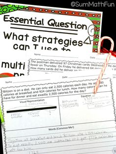 """No Prep Christmas Math: Multi-Step Word Problems   ♥ Why You'll L-O-V-E these:   ★""""Very motivating and had them thinking a lot! -Pamela   ★""""Kids loved doing these problems before Christmas. Kept them motivated."""" -Phillis   ★""""Great themed multi-step problems!"""" -Hailey   ★""""Great resources for keeping the kids engaged when it's getting close to Christmas break!"""" -Lauren"""