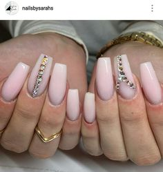 Long Square Nails. Nude Pink Nails. Acrylic Nails.