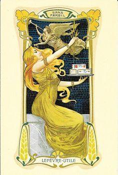 Art Nouveau Trade Card