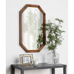 Decor Interior Design, Interior Decorating, Decorating Ideas, Decor Ideas, Octagon Mirror, Wall Mirror Online, Wall Mounted Mirror, Vanity Set, Home Decor Trends