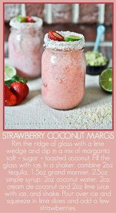 Strawberry Coconut Margarita.