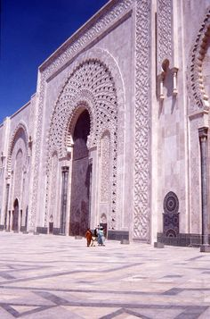 casablanca; this is the largest mosque outside of Mecca