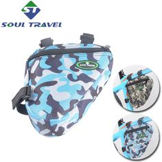 Soul Travel Bicycle Frame Bags Nylon Rainproof Cycling Front Tube Bag Case Camouflage Triangle Bike Carrier Accessories Hot New