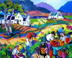 Artwork of Isabel le Roux exhibited at Robertson Art Gallery. Original art of more than 60 top South African Artists - Since Oil Painting Texture, South African Artists, Landscaping, Art Gallery, Original Art, Houses, Paintings, Sculpture, Fine Art