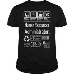 Human resources administrator - Tshirt