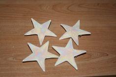 Handmade White & mother of pearl ceramic star brooch £5.00