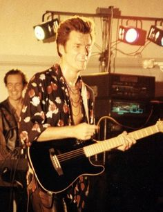Stuart Adamson performing with Big Country at the Dunfermline Pavillion, Scotland in August 1991.