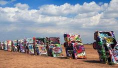 ...then pay your respects at a Cadillac graveyard in Amarillo, Texas. | 10 Road Trips You Need To Take This Summer