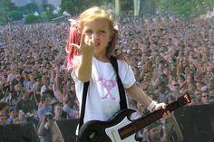 Olivia Vedder (Eddie Vedder's daughter)   wearing a Pearl Jam t-shirt