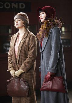 Dorothy 'Dot' Williams (Ashleigh Cummings) and Miss Phryne Fisher (Essie Davis) in 'Murder on the Ballarat Train' (Series 1, Episode 2)