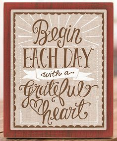 Loving this 'Begin Each Day With a Grateful Heart' Canvas on #zulily! #zulilyfinds