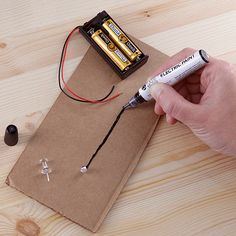 This is a pen with a special ink that when dry, will conduct electricity. Meaning you can literally draw some basic circuits on a piece of cardboard and they'll work.….