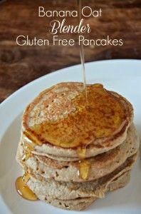 Banana Oat Blender Gluten Free Pancakes
