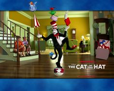 I know silly right, I loved the whimsical design of the homes in cat in the hat but it's the FLOOR I want most.  I love the subtle striping effect.