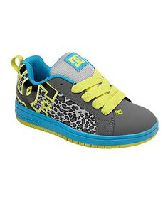 Love this DC Charcoal & Turquoise Court Graffik Sneaker - Kids by DC on #zulily! #zulilyfinds