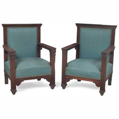 Period Arts & Crafts Prairie -Influenced Arm Chairs | Bungalow